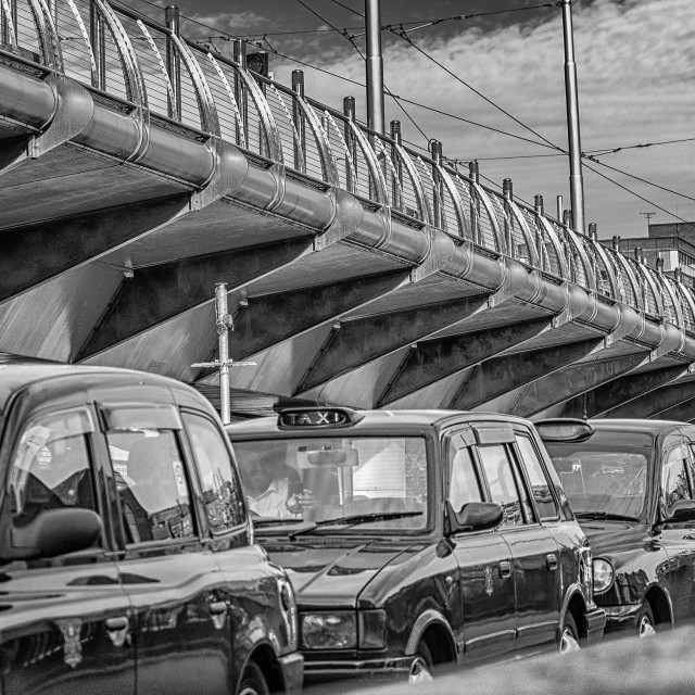 """Taxi rank"" stock image"