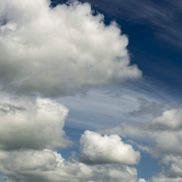 """""""Clouds in the sky"""" stock image"""