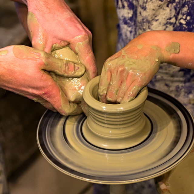 """Person Creation Pottery"" stock image"