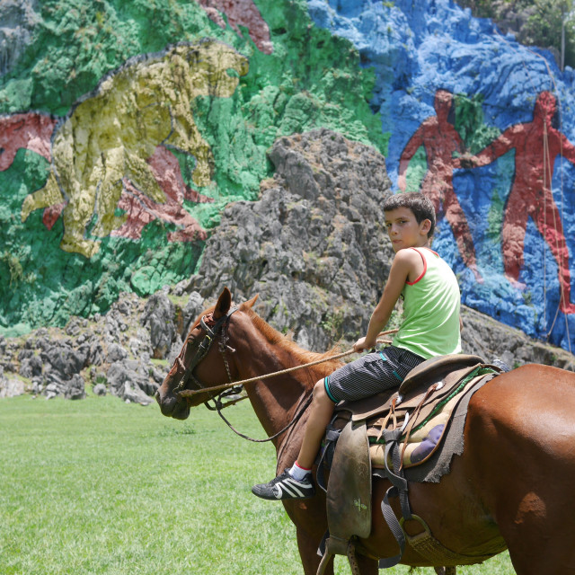 """Horse riding in Vinales"" stock image"