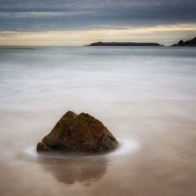 """""""Lone Rock....Marloes Sands"""" stock image"""