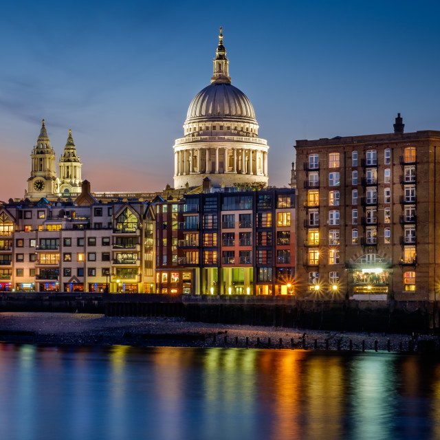 """St Paul's riverside"" stock image"