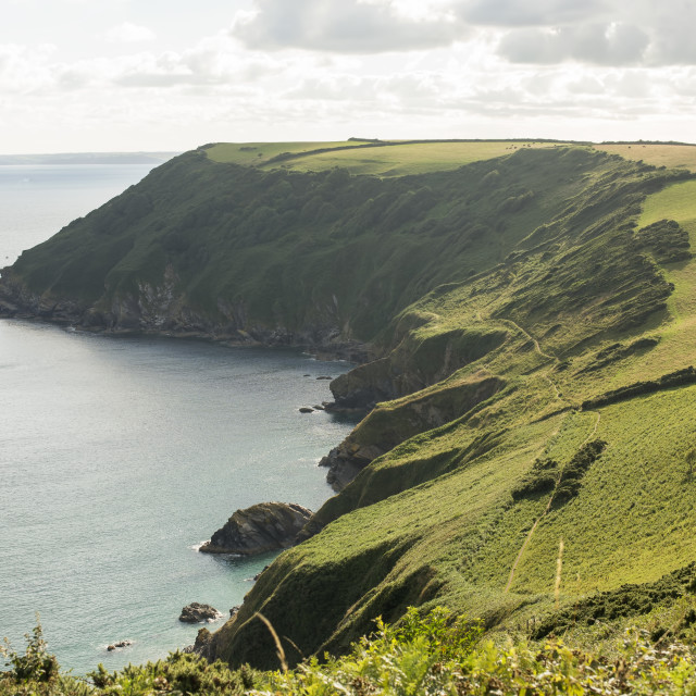 """Cornish Bay View"" stock image"