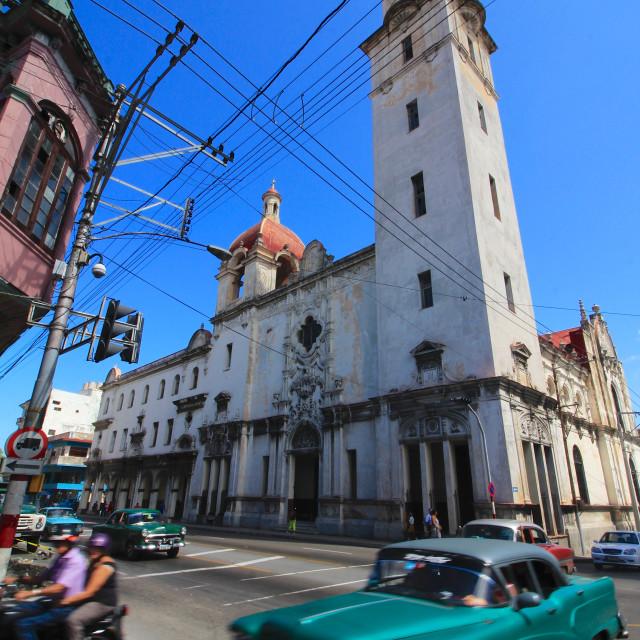 """""""Street Traffic in Central Havana"""" stock image"""