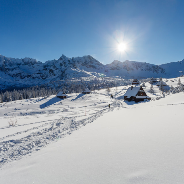 """Winter mountain landscape, Tatry Mountains, Poland"" stock image"