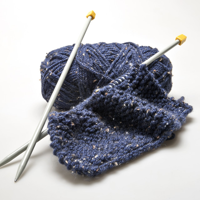 """""""Knitting materail and handcraft tools"""" stock image"""