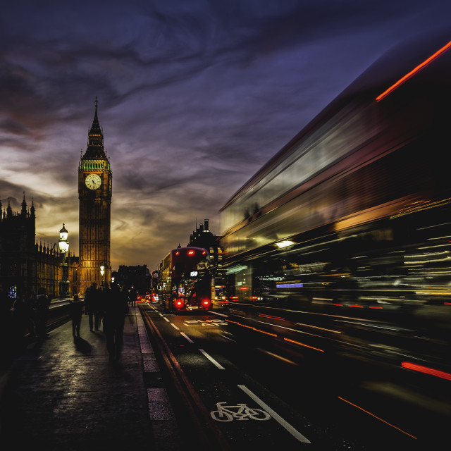 """London after sunset."" stock image"