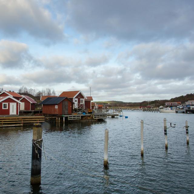 """""""Onnereds marina one late autumn day"""" stock image"""