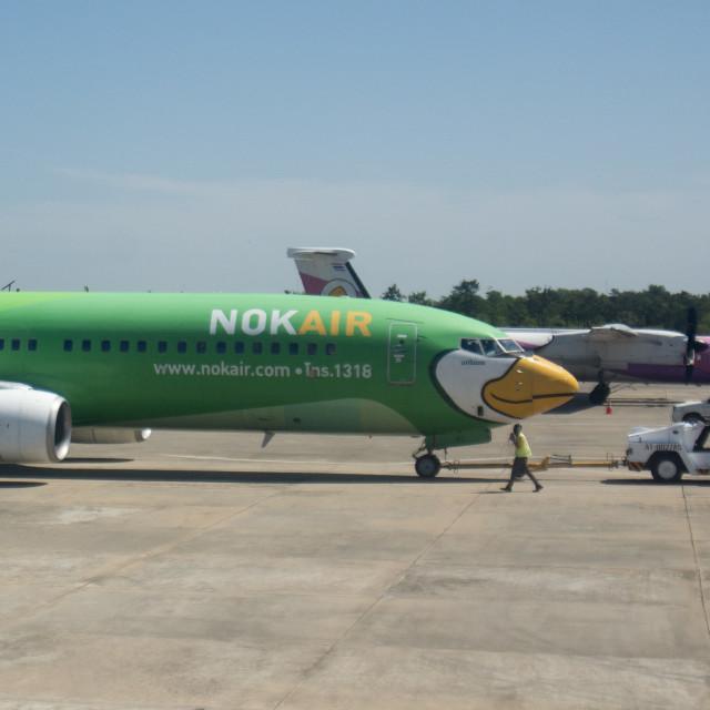 """THAILAND AIRLINE NOK AIR"" stock image"
