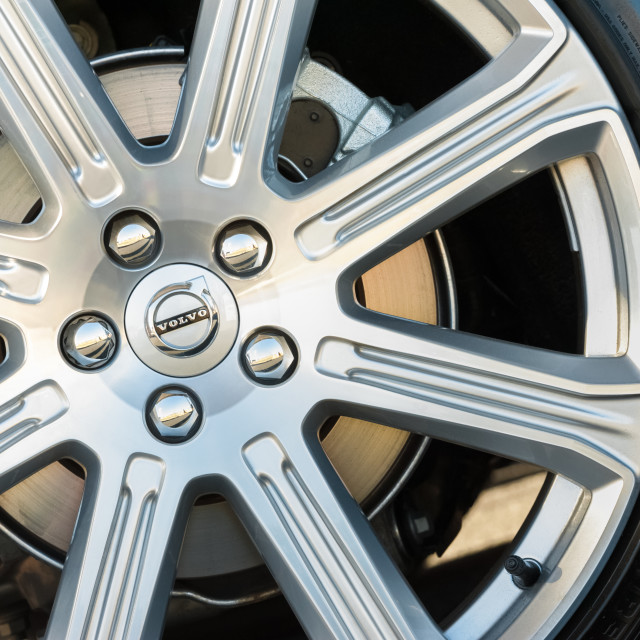 """Volvo wheel closeup"" stock image"