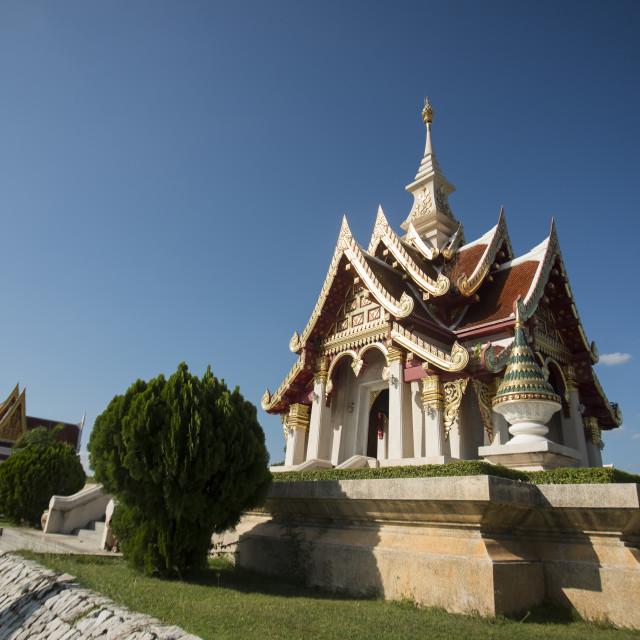 """""""THAILAND ISAN UDON THANI CITY SHRINE"""" stock image"""