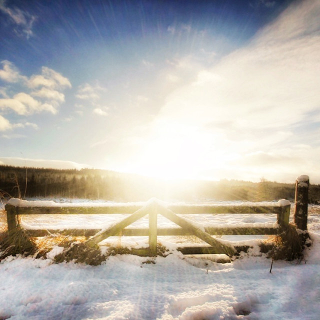 """Sun and Snow"" stock image"