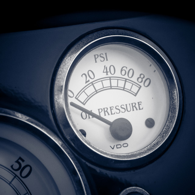 """Oil Pressure"" stock image"