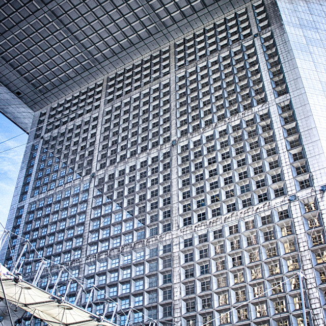 """Looking up at La Grande Arche"" stock image"