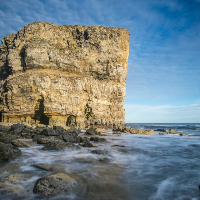 """Marsden Rock Waves"" stock image"