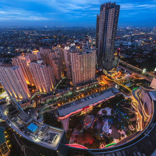 """Jakarta: Central Park Mall Complex II"" stock image"