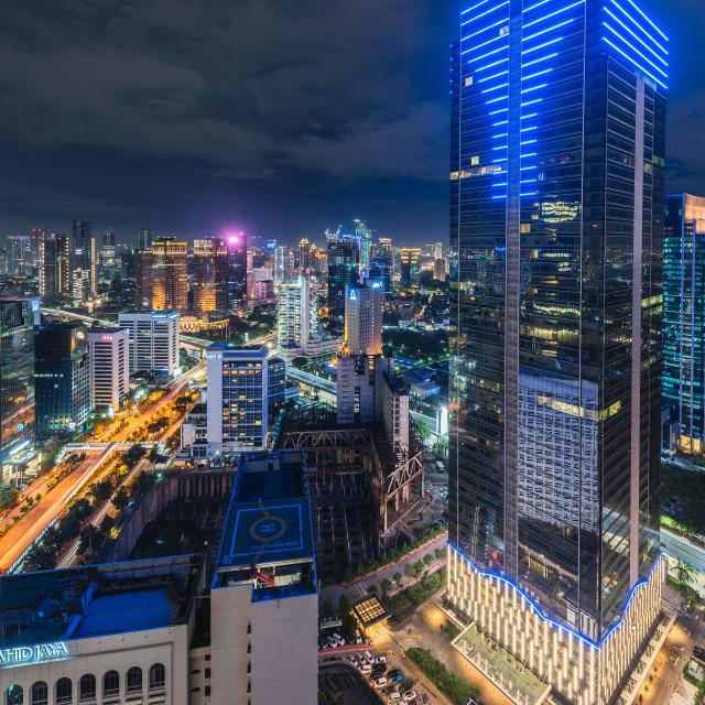 """Jakarta: Sahid Residence III"" stock image"