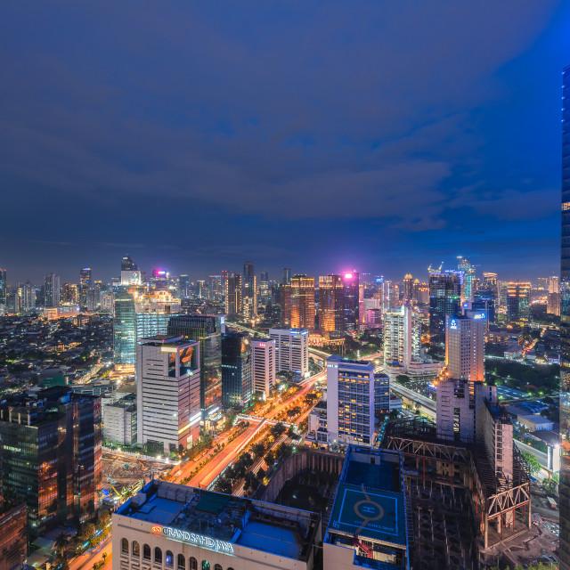 """""""Jakarta: Sahid Residence II"""" stock image"""