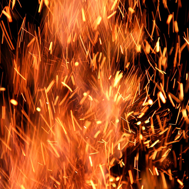 """""""Flames and Sparks"""" stock image"""