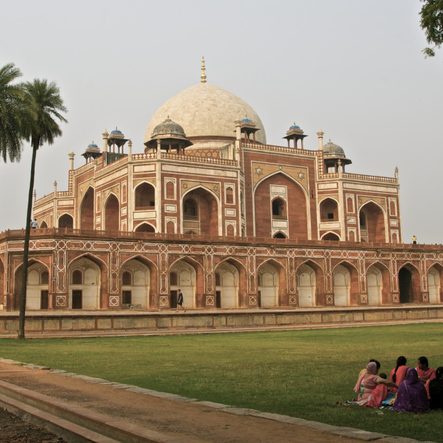 """""""Family Time at the Humayun's Tomb"""" stock image"""