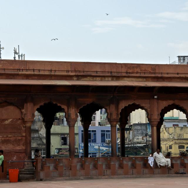 """The mosque Jama Masjid in Delhi"" stock image"