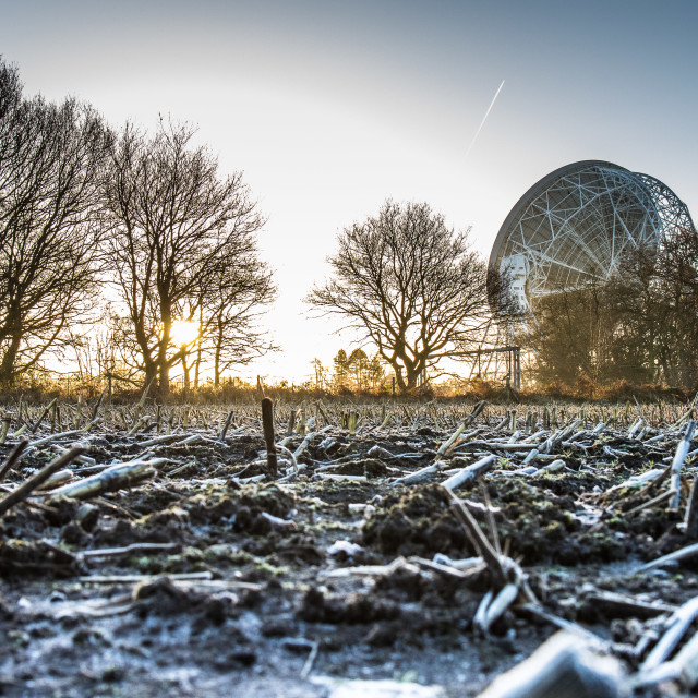 """Jodrell Bank in Winter - 2"" stock image"