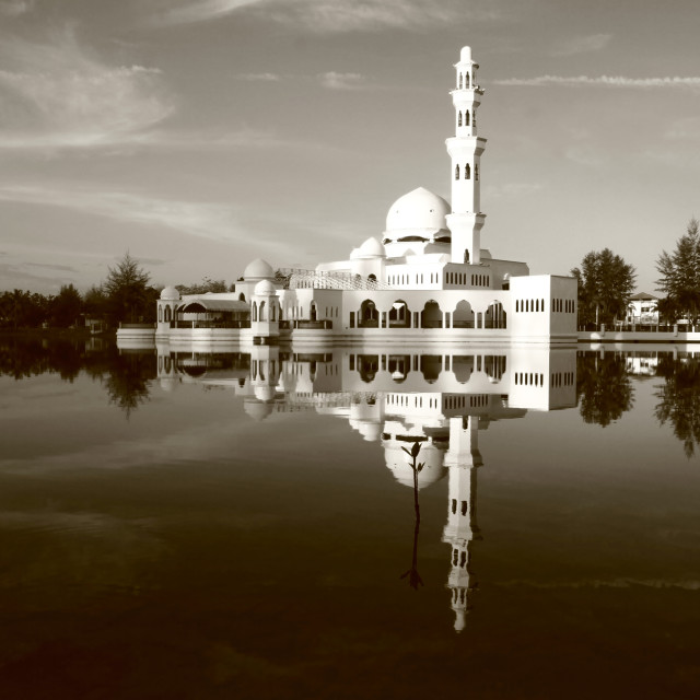 """""""The Floating Mosque"""" stock image"""
