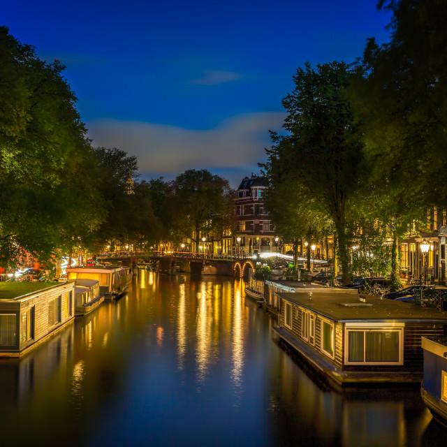 """""""Amsterdam Houseboats"""" stock image"""