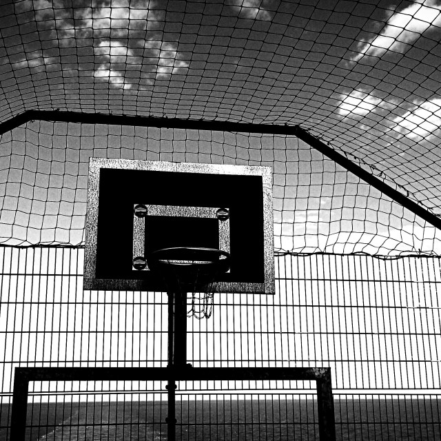 """Ferry basket ball cage"" stock image"