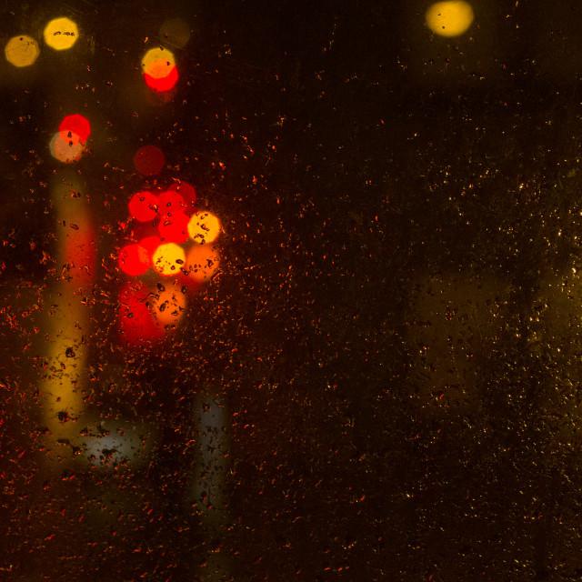 """rainy eve, shot through my window"" stock image"
