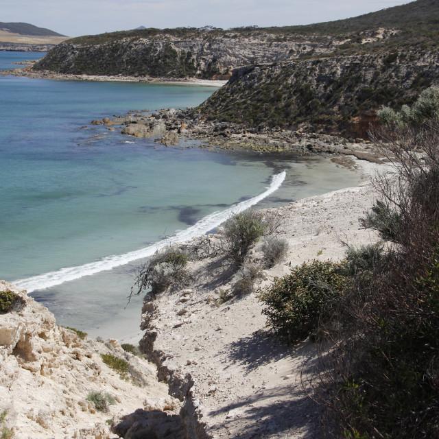 """Gallipoli Beach, South Australia"" stock image"