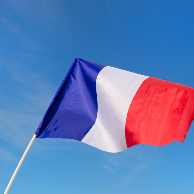 """""""Little French flag"""" stock image"""