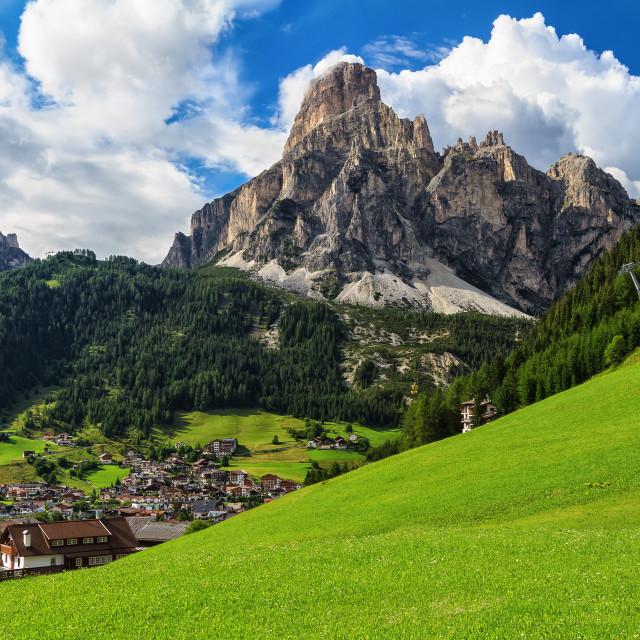 """""""Dolomiti - Corvara in Badia"""" stock image"""