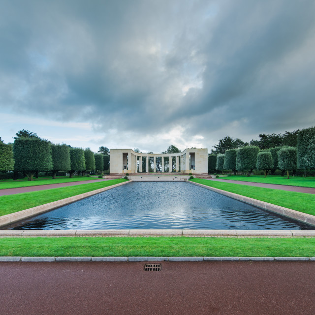 """""""American Cemetery in Normandy Monument,France"""" stock image"""
