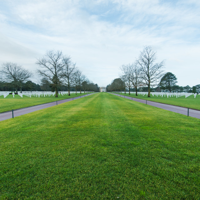 """American Cemetery in Normandy Monument,France"" stock image"