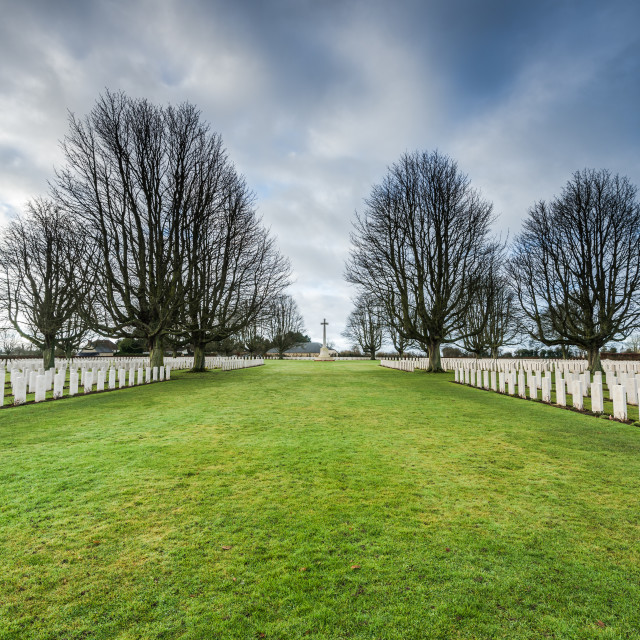 """""""British and Commonwealth War Cemetery in Bayeux,France"""" stock image"""