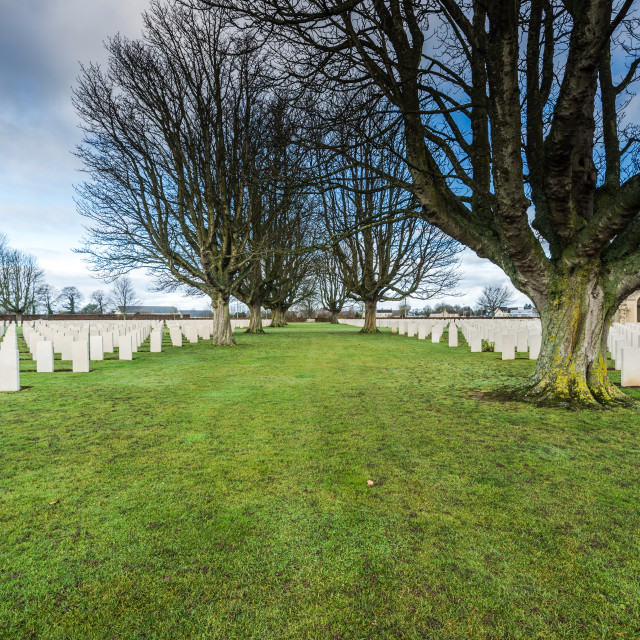 """British and Commonwealth War Cemetery in Bayeux,France"" stock image"