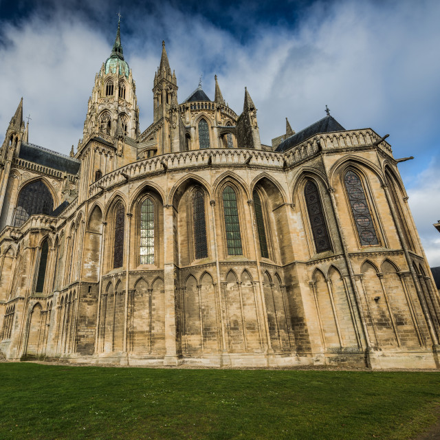 """Bayeux medieval Cathedral of Notre Dame, Normandy,France"" stock image"