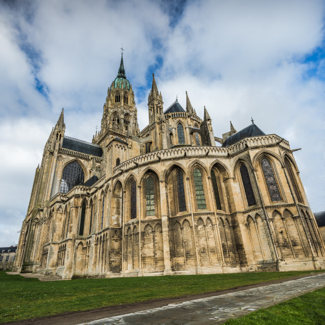 """""""Bayeux medieval Cathedral of Notre Dame, Normandy,France"""" stock image"""