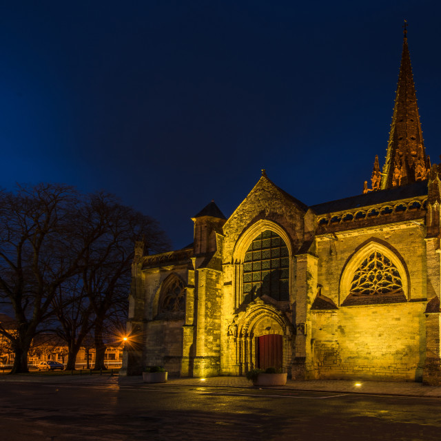 """""""Cathedral church Notre Dame in Carentan,Normandy,France"""" stock image"""