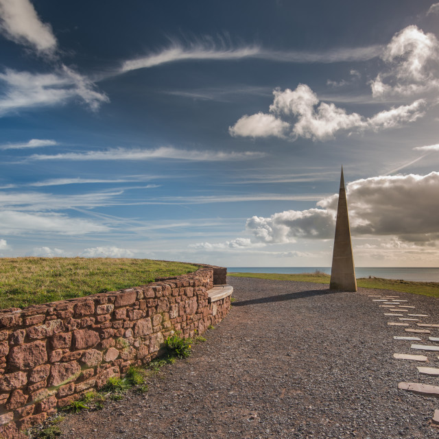 """Coatal patch in Devon near Exmouth,UK"" stock image"