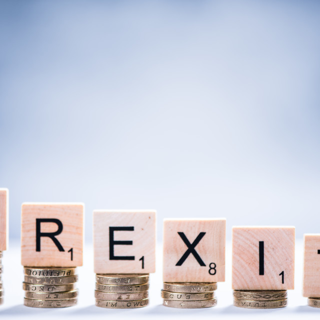 """""""Pound value loss after Brexit"""" stock image"""