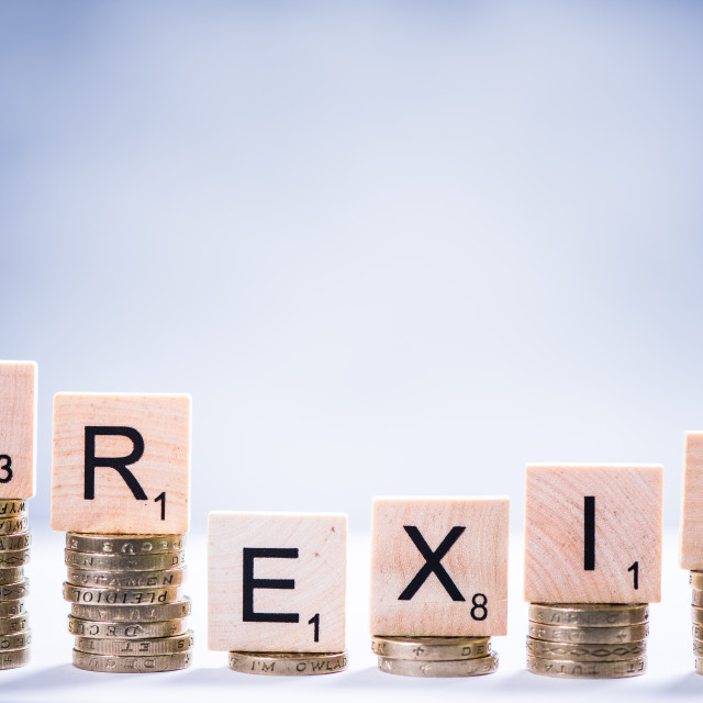 """""""Money value after Brexit"""" stock image"""