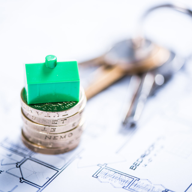 """""""Buying new home for first time"""" stock image"""