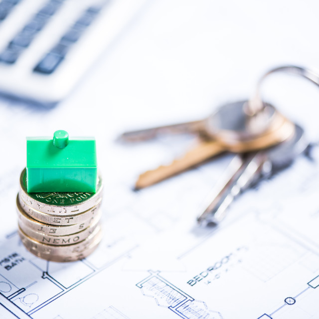 """""""Saving for your own home"""" stock image"""
