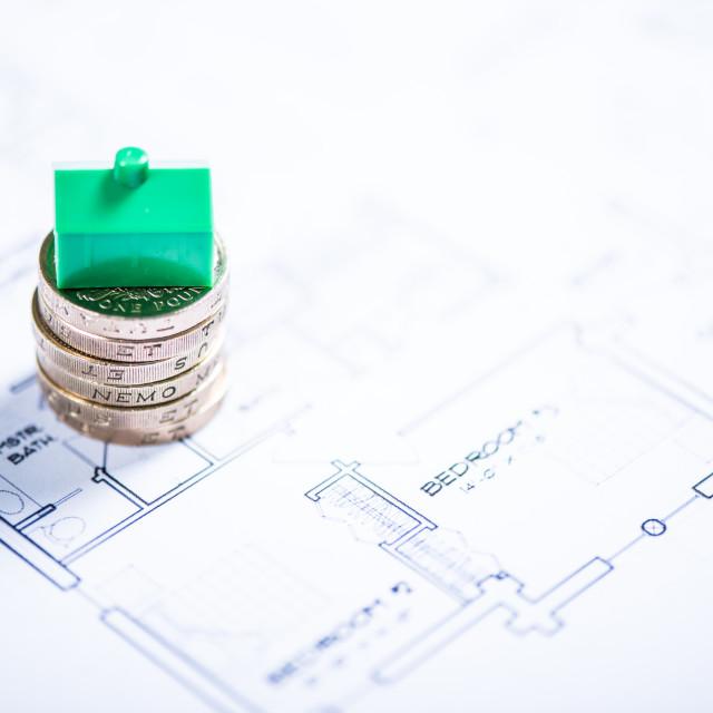 """Saving money for new house"" stock image"