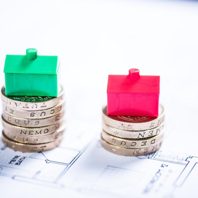 """Saving money to buy home"" stock image"