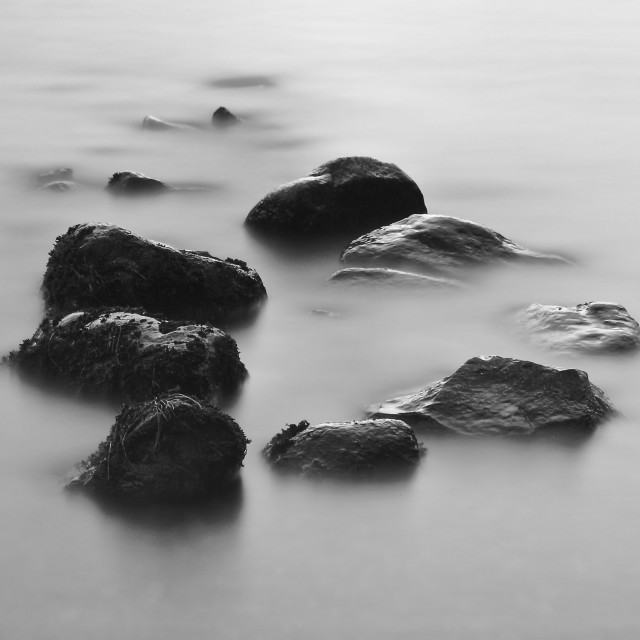 """Stones in the Mist"" stock image"