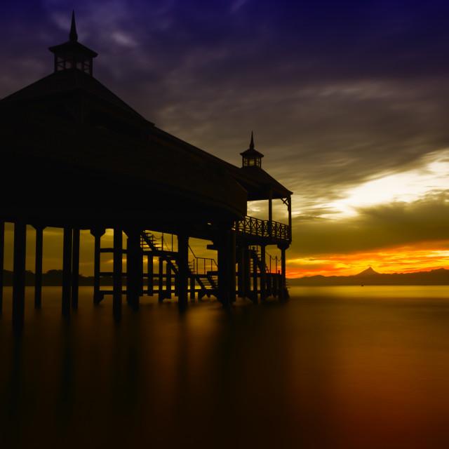 """Frutillar and llanquihue lake, Chile."" stock image"
