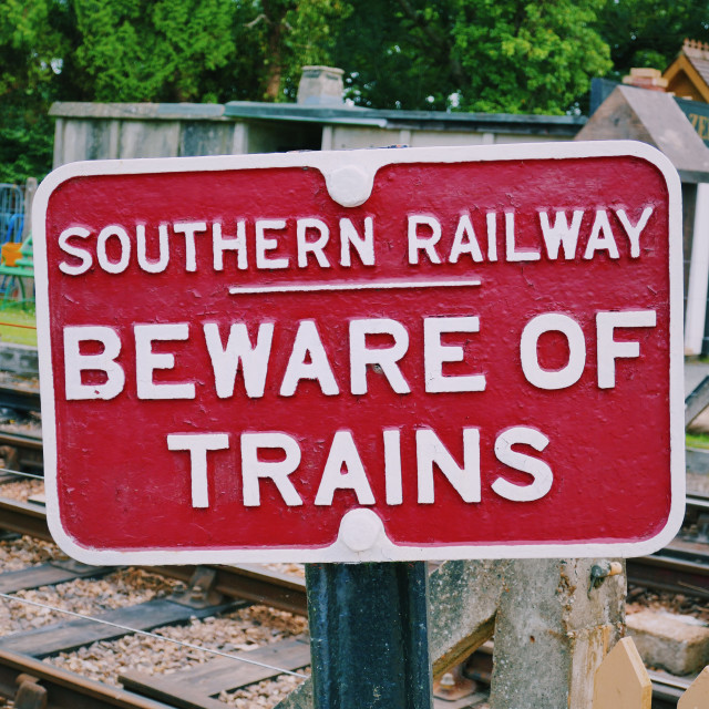 """Southern Railway"" stock image"